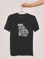 Georgia Drink Beer From Here® - V-Neck Craft Beer shirt