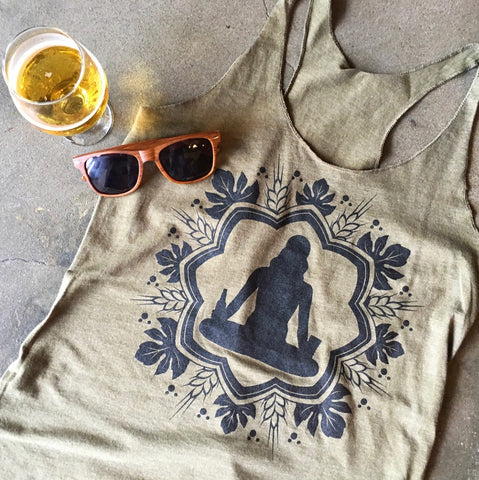 Craft Beer and Yoga Women's Racerback Tank