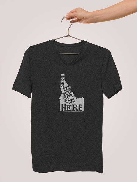 Idaho Drink Beer From Here® - V-Neck Craft Beer shirt