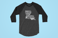 Louisiana Drink Beer From Here® - Craft Beer Baseball tee
