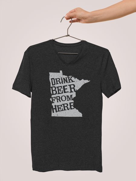 Minnesota Drink Beer From Here® - V-Neck Craft Beer shirt