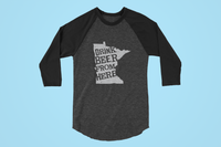 Minnesota Drink Beer From Here® - Craft Beer Baseball tee