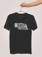 Nebraska Drink Beer From Here® - V-Neck Craft Beer shirt