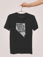 Nevada Drink Beer From Here® - V-Neck Craft Beer shirt
