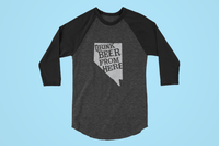 Nevada Drink Beer From Here® - Craft Beer Baseball tee