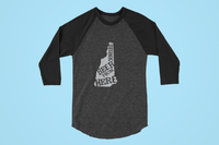 New Hampshire Drink Beer From Here® - Craft Beer Baseball tee