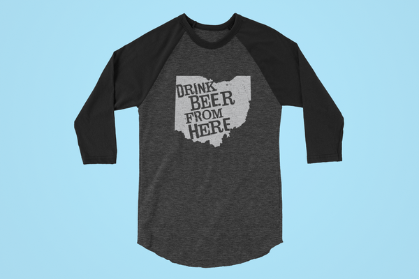 Ohio Drink Beer From Here® - Craft Beer Baseball tee