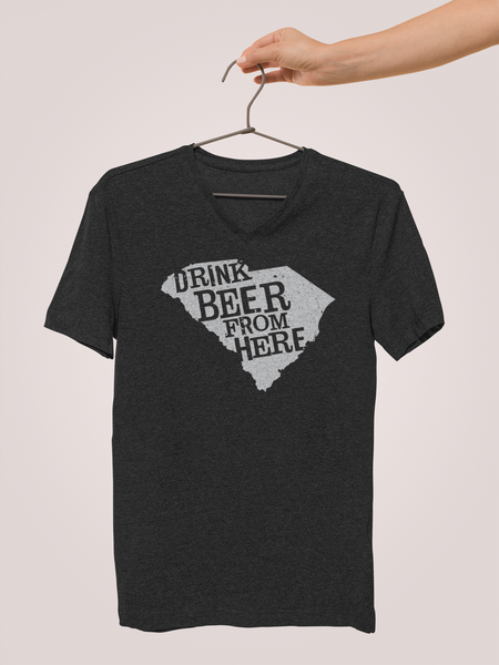 South Carolina Drink Beer From Here® - V-Neck Craft Beer shirt