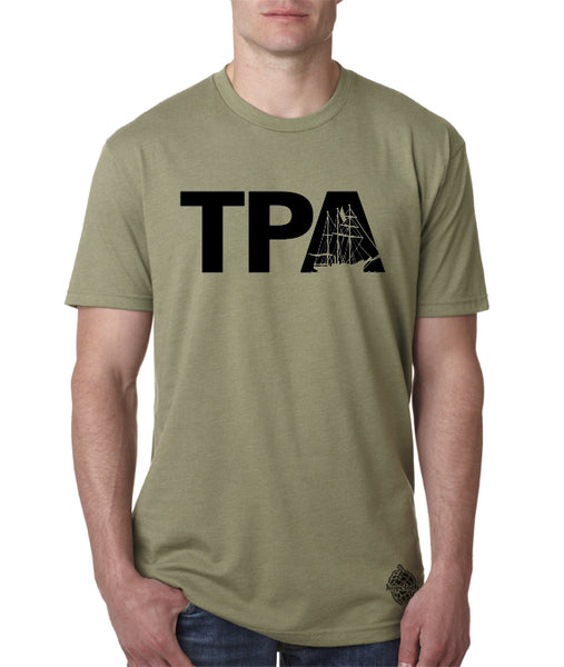 TPA Pirate Ship Tampa logo shirt- Men's Crew Neck, Gasparill Shirt
