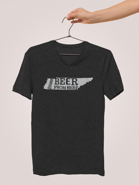 Tennessee Drink Beer From Here® - V-Neck Craft Beer shirt