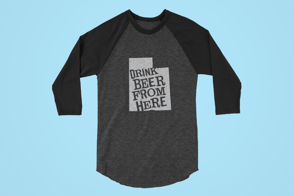 Utah Drink Beer From Here® - Craft Beer Baseball tee