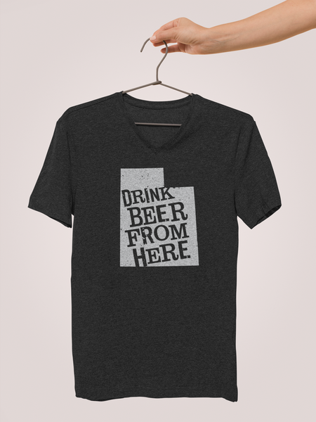 Utah Drink Beer From Here® - V-Neck Craft Beer shirt