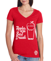 Apples are Best Drunk- craft cider Women's v-neck