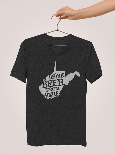 West Virginia Drink Beer From Here® - V-Neck Craft Beer shirt