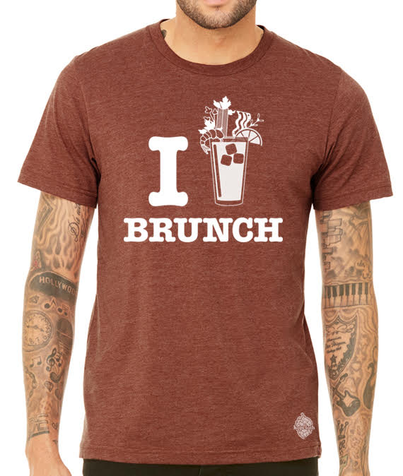 I (Blood Mary) Brunch- Men's I heart brunch tee