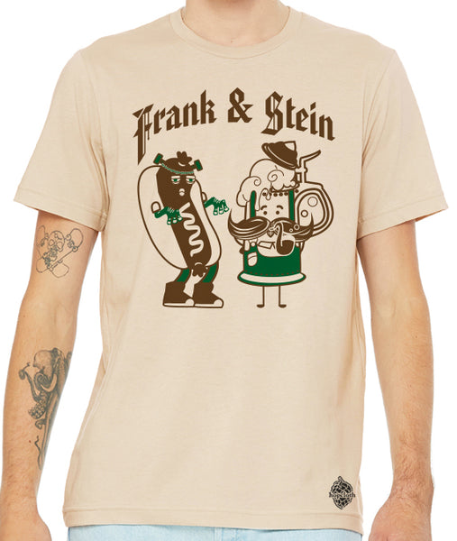 Frank N' Stein Oktoberfest Halloween Craft Beer Shirt- men's crew