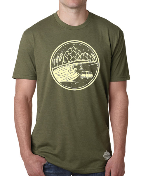 Camping Craft Beer shirt- unisex t-shirt