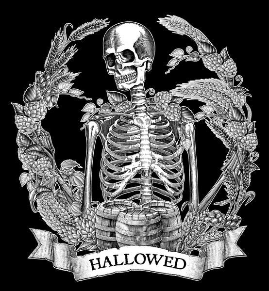 Hallowed Skeleton craft beer shirt- Halloween t-shirt