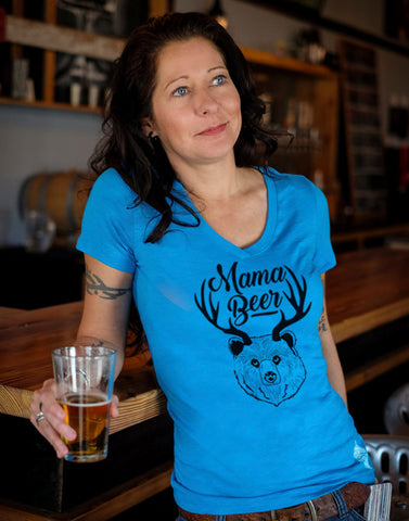 Craft Beer shirt- Mama Beer- V-Neck t-shirt