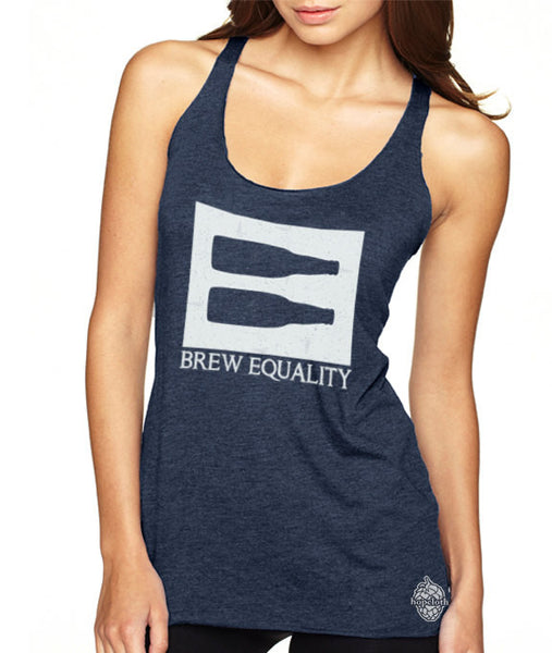 Craft Beer shirt- Brew Equality- women's Racerback Tank