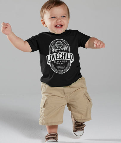 "Craft Beer Toddler Tee- ""Lovechild"""