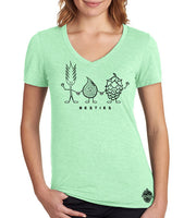 "Craft Beer shirt- ""Besties"" Women's V-Neck"