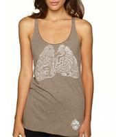Craft Beer shirt- Heart and Lungs- women's Racerback Tank
