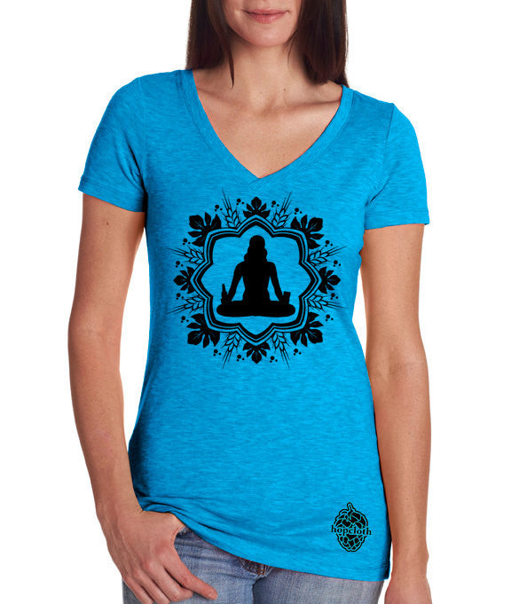 Craft Beer and Yoga Women's V-Neck t-shirt