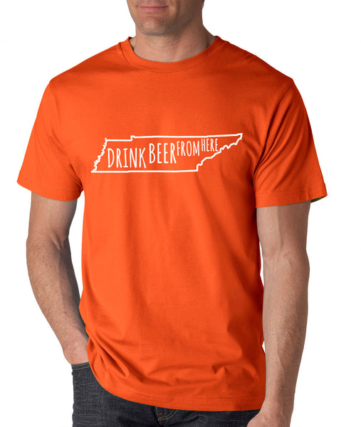 Volunteers- Drink Beer From Here- Tennessee- UT Craft Beer Shirt