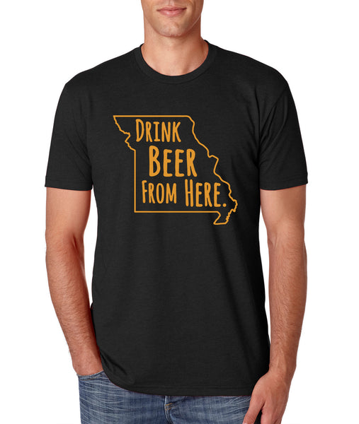 Tigers- Drink Beer From Here- Missouri- UM Craft Beer Shirt