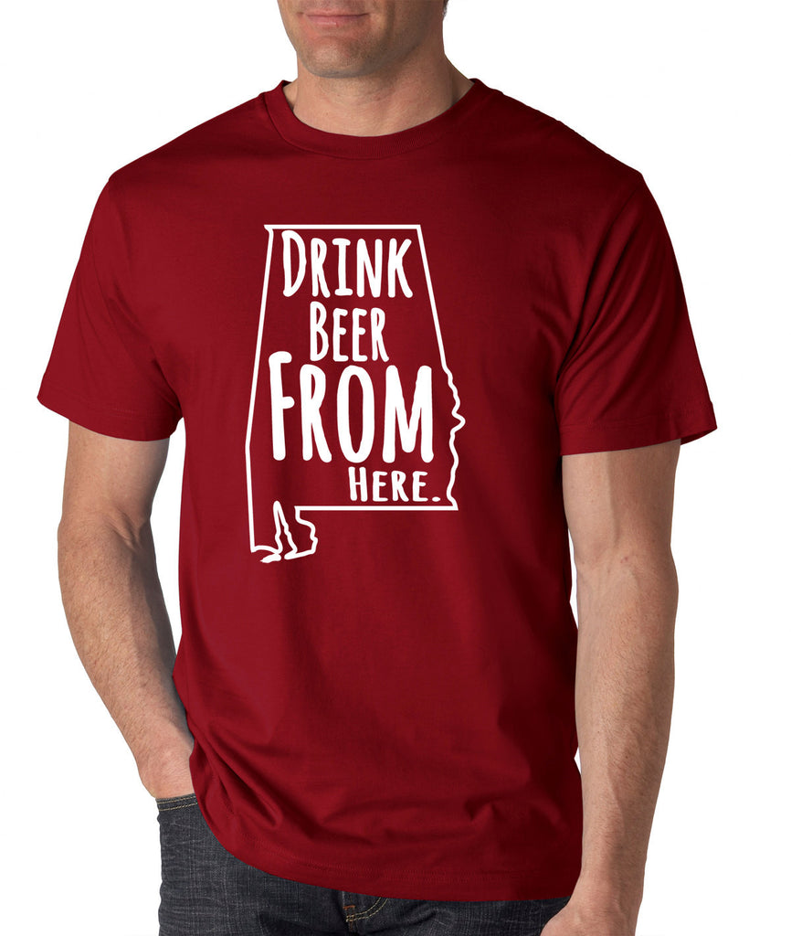 Crimson Tide- Drink Beer From Here- Alabama- Craft Beer Shirt