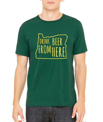 Ducks & Craft Beer- Oregon- OR- Drink Beer From Here shirt