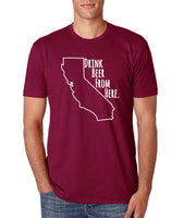 The Cardinal- Drink Beer From Here- California- CA Craft Beer Shirt
