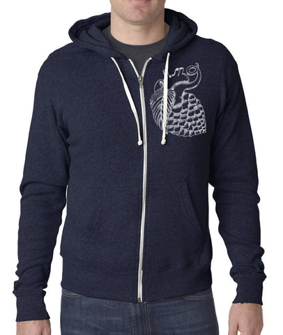 Craft Beer apparel- Hop Heart Zip-Up Hoodie