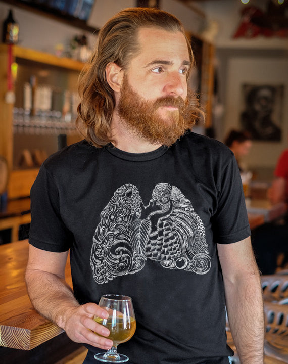 Craft Beer t-shirt- Heart and Lungs