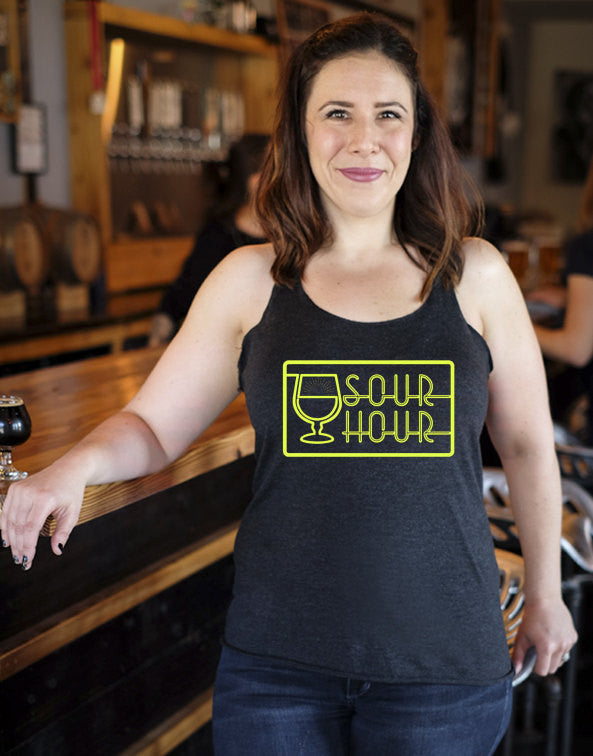 Craft beer shirt- Sour Hour- women's Racerback Tank