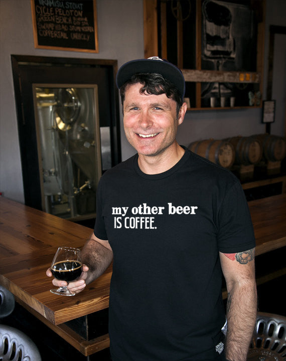 Craft Beer t-shirt- My Other Beer is Coffee