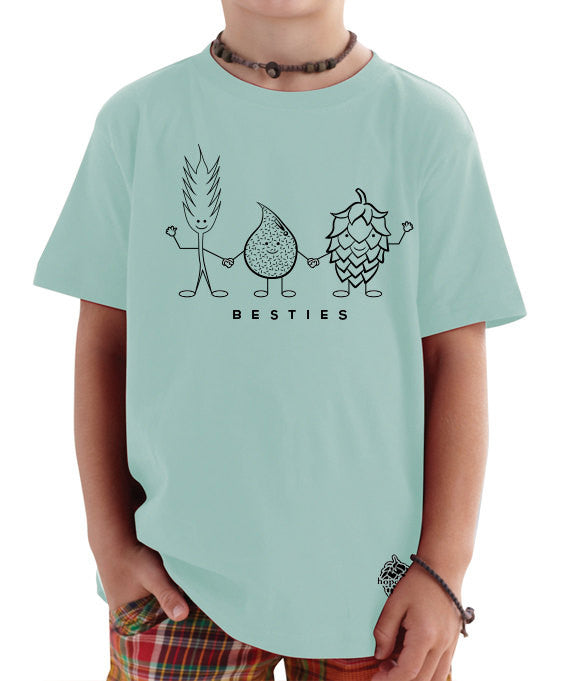 "Craft Beer Toddler Tee- ""Besties"""
