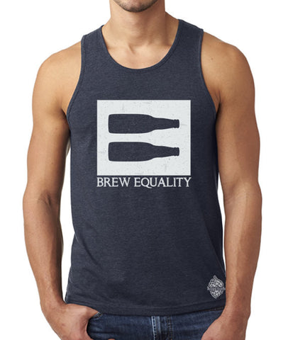 Craft beer t-shirt- Brew Equality- men's tank top