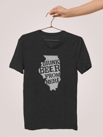 Illinois Drink Beer From Here® - V-Neck Craft Beer shirt