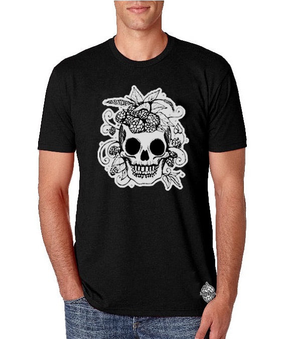 Glow In The Dark Hop Skull Craft Beer T Shirt Hopcloth