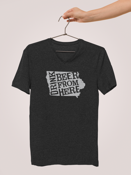 Iowa Drink Beer From Here® - V-Neck Craft Beer shirt