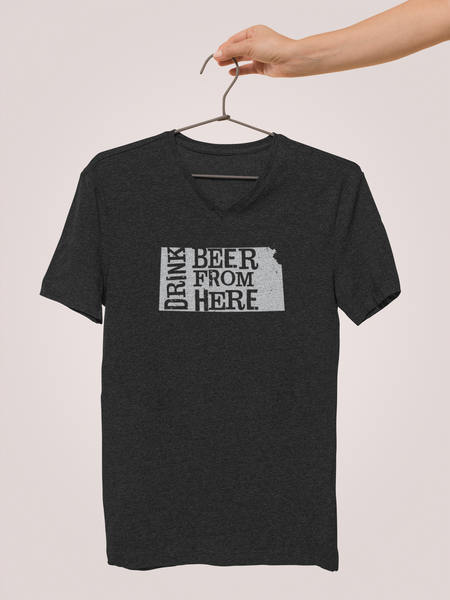 Kansas Drink Beer From Here® - V-Neck Craft Beer shirt