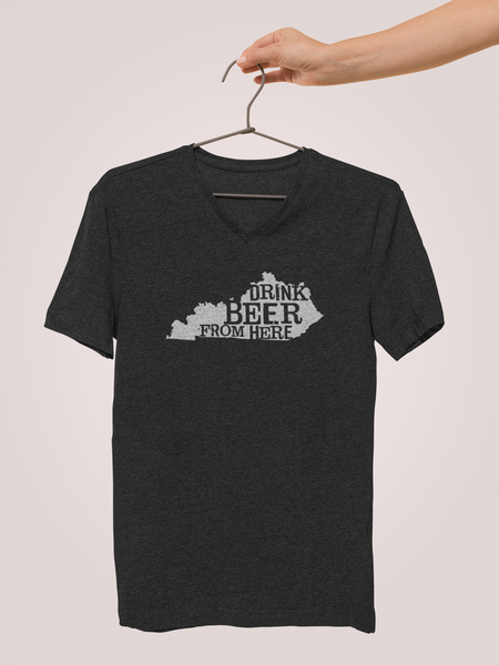 Kentucky Drink Beer From Here® - V-Neck Craft Beer shirt
