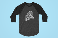 Maine Drink Beer From Here® - Craft Beer Baseball tee