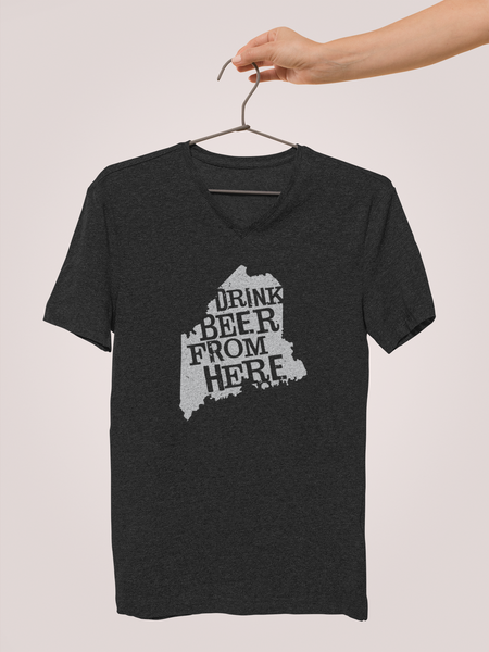 Maine Drink Beer From Here® - V-Neck Craft Beer shirt
