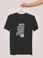 Mississippi Drink Beer From Here® - V-Neck Craft Beer shirt