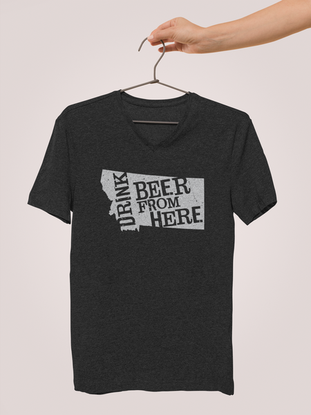 Montana Drink Beer From Here® - V-Neck Craft Beer shirt