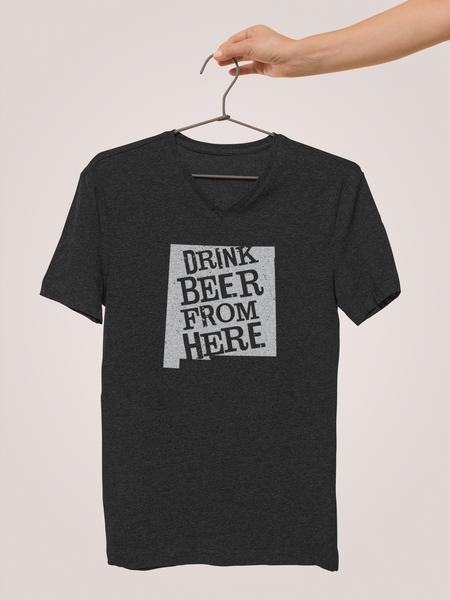 New Mexico Drink Beer From Here® - V-Neck Craft Beer shirt