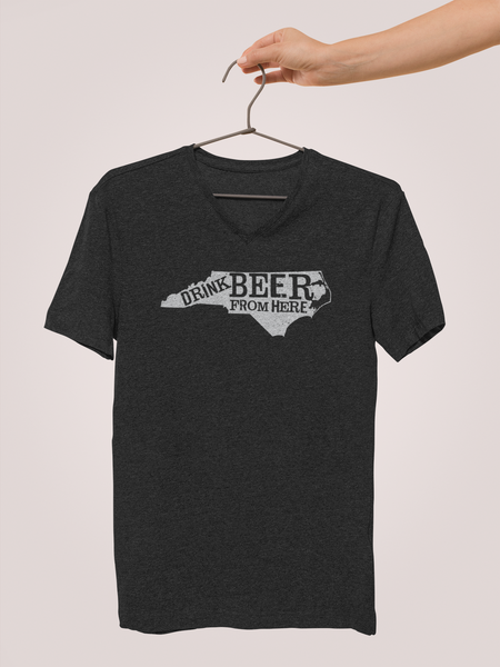 North Carolina Drink Beer From Here® - V-Neck Craft Beer shirt